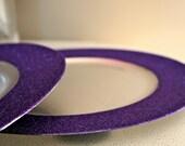 Royal Purple Glitter Charger, Sparkle Purple Wedding Decorations