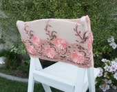 One Coral Pink Flower Chair Cover - Coral or Pink Wedding Decor
