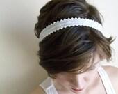 Juliet in White- Bridal Headband