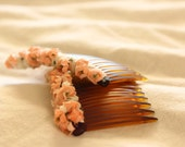 Flower wrapped combs