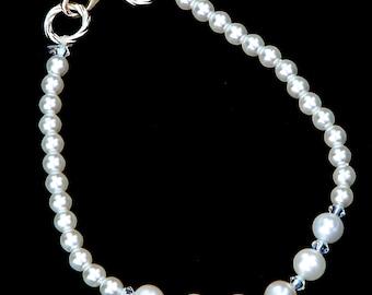 Swarovski Elements White Pearl and Crystal Bracelet