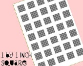 Digital collage template - 1 by 1 inch square - Do It Yourself