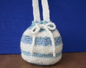 Small Blue and White Hobo bag