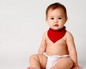 Red Baby Bib Bandana Drool Bib