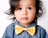 Boys Bow Tie in Yellow Gingham
