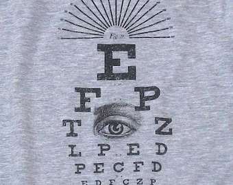 Vintage Eye Chart T-shirt Optometry Men's / Unisex & Ladies' Tees