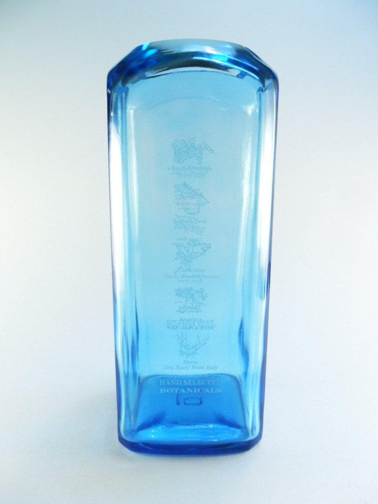 Liquor bottle vase bombay sapphire gin for Liquor bottle vases