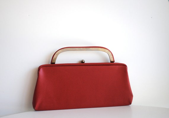 Vintage leather cluth-Crimson Red with Mad Men style