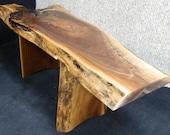 Beautiful Coffee Colored Black Walnut Lumber Finished Furniture Bench/Coffee Table 10063