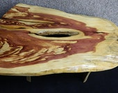 Super Unique Marbled Red Cedar Finished Coffee Table Lumber Furniture 10071