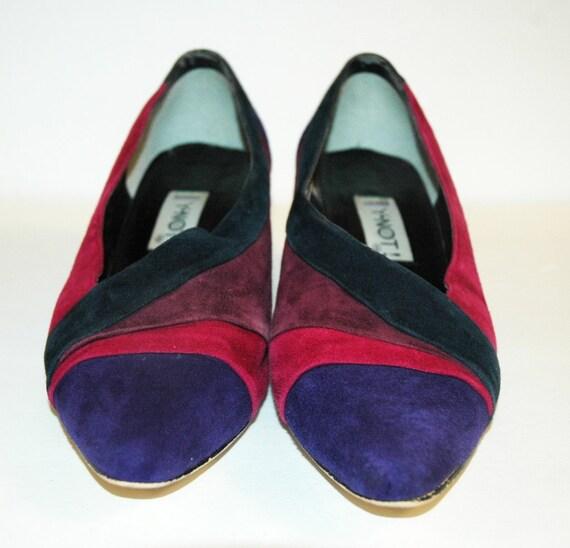 vintage 80s COLORBLOCK Seude Heels