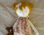 Handmade bedtime fabric doll....Sarah