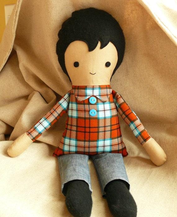 Handmade fabric doll....Adam
