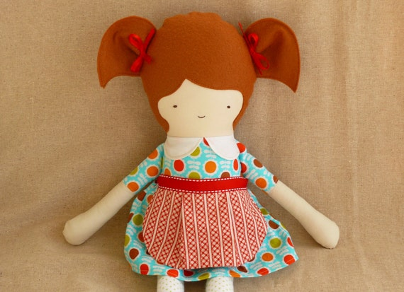 Fabric Doll with Apron...Jane