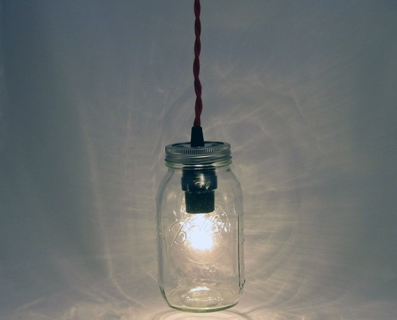 items similar to ball mason jar hanging pendant light