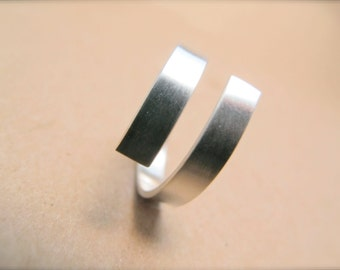 Modern Wrap Ring in Sterling Silver
