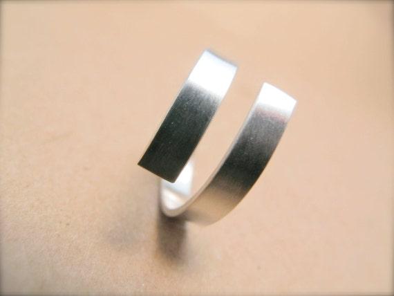 Modern Wrap Ring in Sterling Silver