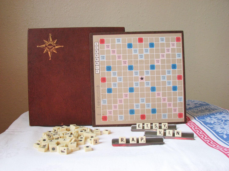 Vintage Travel Scrabble 96