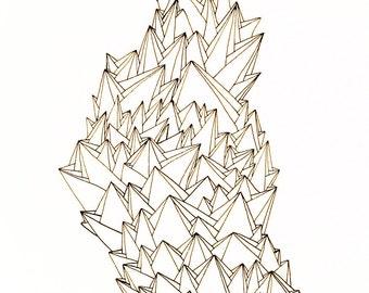 Systemic - original ink drawing, illustration
