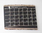 Wooden Chalkboard Calendar