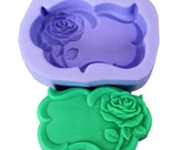 R0964 Silicone Soap Molds  Floral Soap Mold Silicone Soap Mold Angel Soap Mould Soap Moulds