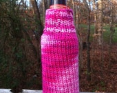 Cozy Pink Beer Sweater Bottle Koozie