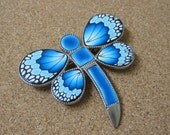 Turquoise Blue Dragonfly Brooch