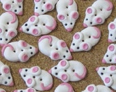 White Mice Sewing Buttons 6