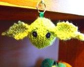 Knitted YODA keyring