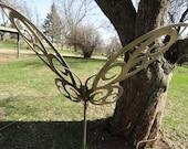 steel tribal butterfly garden/lawn ornament