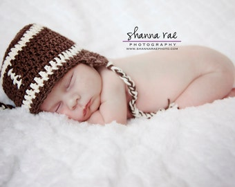 Football Hat, Crochet Football Hat, Baby Hat,  Baby Boy Crochet, Newborn photo prop, Baby Shower Gift