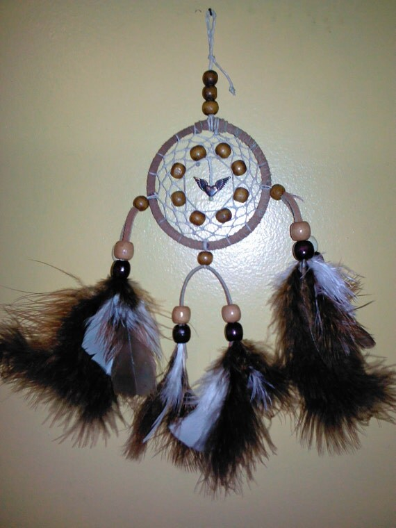 "3"" Brown and White Dream Catcher"