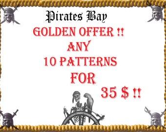 Super Golden Saving - 10 patterns for 35 Dollars. Beading Tutorial Patterns