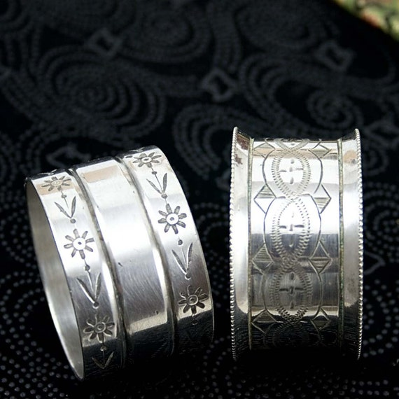 2 Silver Plate Napkin Rings