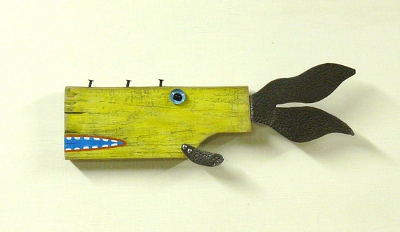 SEAS the Day 5 ... Repurposed wood and found object art fish