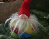 Gnome Love needle felted. colors