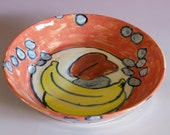 Red Fruit Serving Bowl