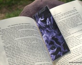 Laminated Photo Bookmark - Purple Fire
