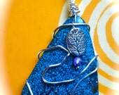Rooted in Truth and Higher Wisdom, Turquoise, Pearl, Pewter tree bead, Sterling Silver Wrapped Reiki Charged Gemstone Healing Pendant