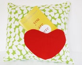 18x18 Green Cotton-ball Pillow Luv