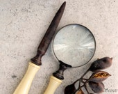 Letter Opener and Magnifying Lens Set - OldSecrets