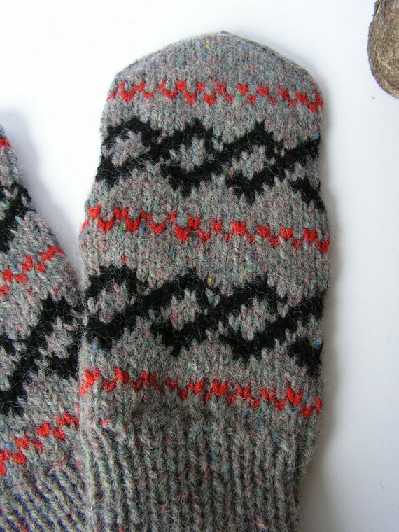 SALE off 40% Hand knitted wool Men Mittens