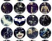 BATMAN The Dark Knight Rises DIGITAL COLLAGE . Diy Pinback Buttons . Bottle Cap . Tile Pendant . Resin Jewelry . Craft . Christian Bale