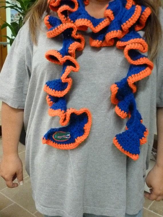 collegiate ruffle scarf of florida gators show