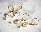 Vintage Style Earrings, Vintage Earrings, Bridesmaid Gift, Bridesmaid Earrings, Bridesmaid jewelry, Bridal Earrings