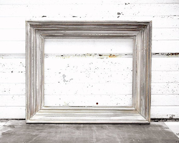 Thick RUSTIC 10x13 FRAME - Perfect Rustic Wedding Color -Thick 10 x 13 Frame - Vintage Shabby Chic Antique Frame