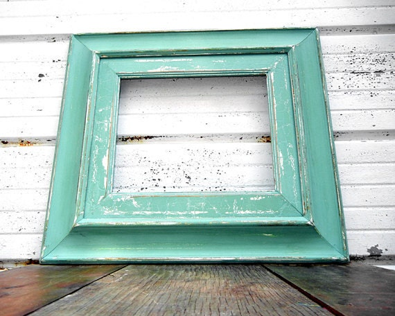 10x12 thick aqua mint frame large wide rustic frame size 10 x 12