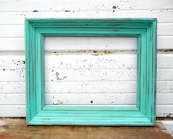 thick rustic 10x13 frame perfect rustic wedding aqua mint color thick 10 x 13