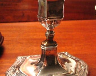 ENGLISH SILVER CANDLESTICK Antique c1900