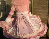 Pink Apple Blossom Fairy Princess Upcycled Recycled Sweater Elf Dream Coat - by Isla Faye